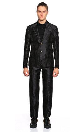 Alexander Mcqueen Kuru Kafa Desenli Siyah Ceket