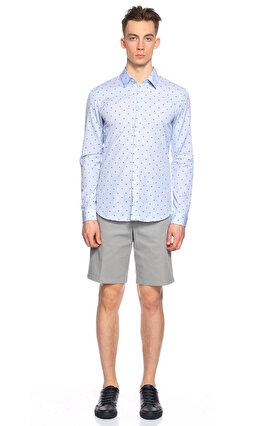 Jil Sander İşleme Detaylı Mavi Gömlek