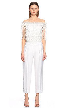 Armani Collezioni Beyaz Pantolon