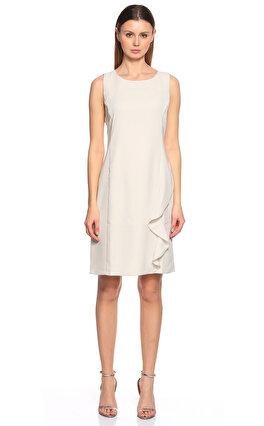Armani Collezioni Kolsuz Beyaz Elbise