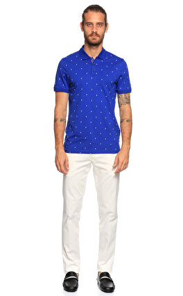 Ted Baker Palmiye Desenli Polo Lacivert T-Shirt