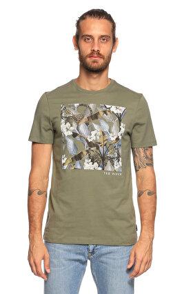 Ted Baker Baskı Desen Yeşil T-Shirt