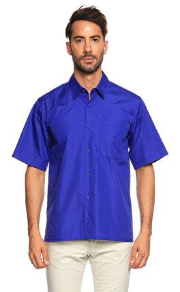 Christopher Kane Kısa Kollu Mavi Gömlek