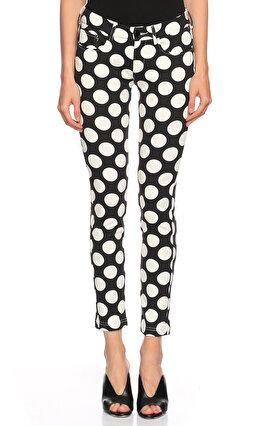 Love Moschino Puantiyeli Siyah Beyaz Jean Pantolon
