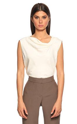 Armani Collezioni Kolsuz Beyaz Bluz