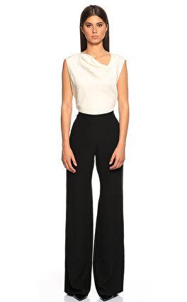 Armani Collezioni Geniş Kesim Siyah Pantolon