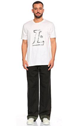 Lanvin Baskı Desen Beyaz T-Shirt