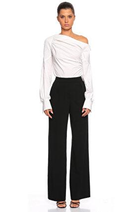Donna Karan Geniş Kesim Siyah Pantolon