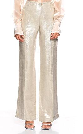 Ralph Lauren Black Label Geniş Kesim Gümüş Pantolon