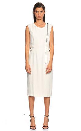Philosophy Ferretti Kolsuz Beyaz Elbise