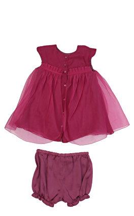 Baby Dior Kız Bebek Gül Kurusu Elbise