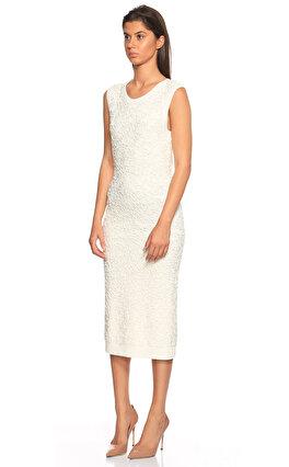 Michael Kors Collection İşleme Detaylı Beyaz Elbise