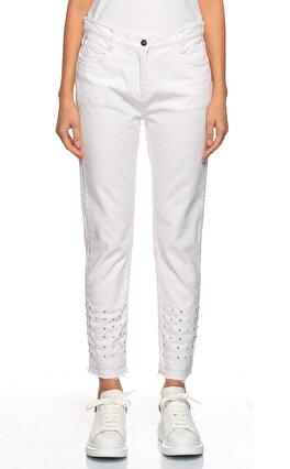Sandro İşleme Detaylı Beyaz Pantolon