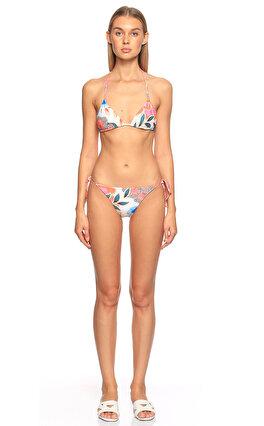 Mara Hoffman Desenli Pembe Bikini Üstü