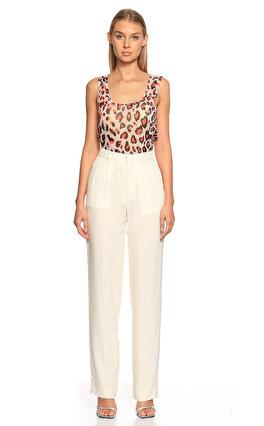 Sonia Rykiel Geniş Kesim Beyaz Pantolon
