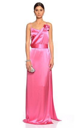 Lanvin Uzun Fuşya Gece Elbisesi