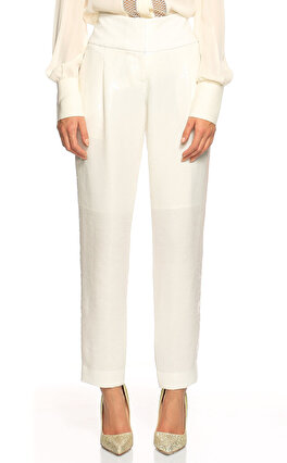 Kaufman Franco Pul Payet Beyaz Pantolon