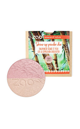 ZAO Organic Make Up Refill Shine-up Powder duo 311 Pink&Gold Aydınlatıcı