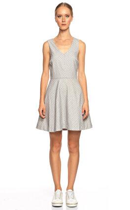 Joie Desenli Gri Mini Elbise