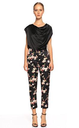 Joie Çiçek Desenli Siyah Pantolon