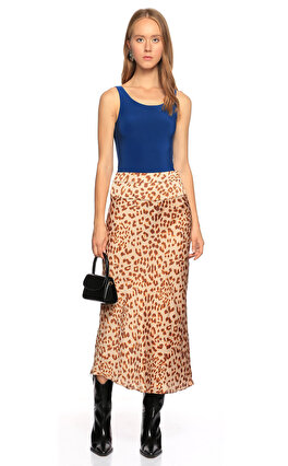 Free People Leopar Bej Etek