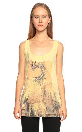 Just Cavalli Baskılı Sarı T-shirt