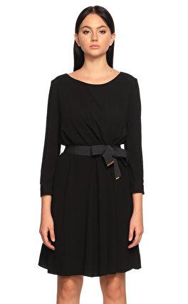 Paule Ka Uzun Kollu Siyah Elbise