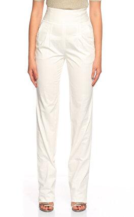 Karl Lagerfeld Piliseli Beyaz Pantolon