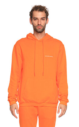 Les Benjamins Kapüşonlu Turuncu Sweatshirt