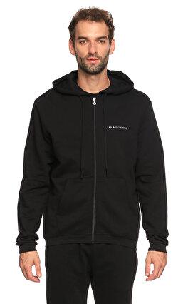 Les Benjamins Kapüşonlu Siyah Sweatshirt