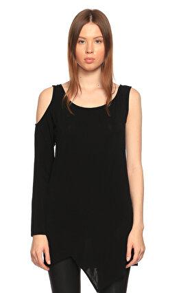 Costume National Asimetrik Kesimli Siyah Bluz