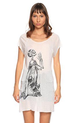 Thomas Wylde Baskı Desen Beyaz T-Shirt