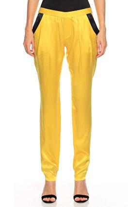 Thomas Wylde Beli Lastikli Sarı Pantolon