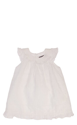 Ermanno Scervino İşleme Detaylı Beyaz Elbise