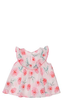 Baby Dior Çiçek Desenli Beyaz Bluz