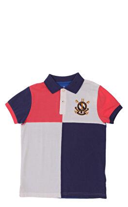 Hackett Mavi Pembe Beyaz Polo T-Shirt