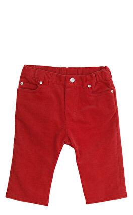 Baby Dior Kadife Kırmızı Pantolon