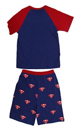 Fabric Flavours Süperman Baskılı Mavi-Kırmızı Pijama Seti