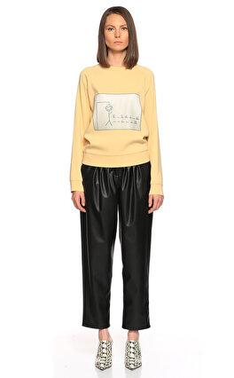 Nisse Baskılı Sarı Sweatshirt