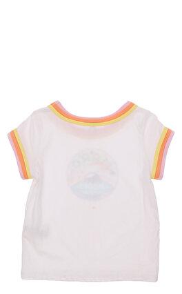 Little Marc Jacobs Renkli Baskılı Beyaz T-Shirt