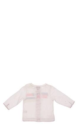 Baby Dior Baskılı Uzun Kollu Açık Gri T-Shirt