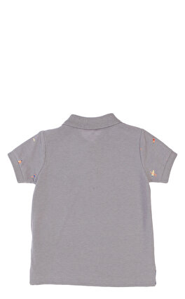 Hackett Baskılı Gri Polo T-Shirt