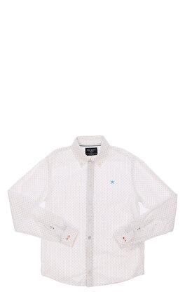 Hackett Desenli Beyaz Gömlek