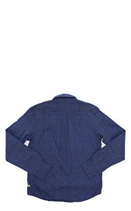 Hackett Çiçek Desenli Lacivert Gömlek