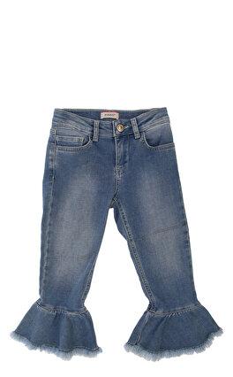 Pinko Jean İspanyol Paça Mavi Jean Pantolon