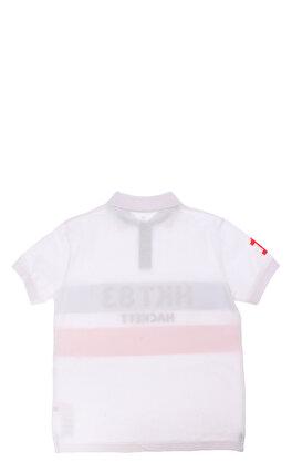 Hackett Çizgili Beyaz Kırmızı Polo T-Shirt