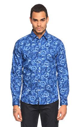 Michael Kors Collection Desenli Mavi Gömlek