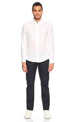 Michael Kors Collection Keten Beyaz Gömlek