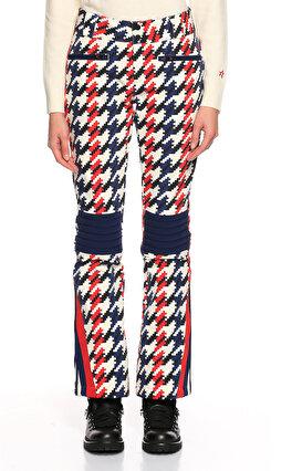 Perfect Moment Kazayağı Desenli Kırmızı Beyaz Lacivert Kayak Pantolonu