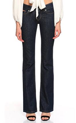 D&G Geniş Paçalı Lacivert Jean Pantolon